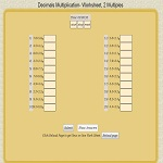 Math decimal Multiplication worksheet